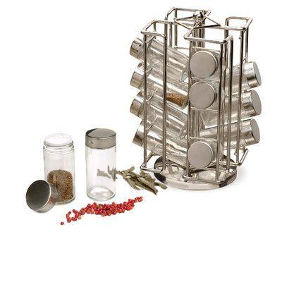 RSVP-INTL 17 Piece Revolving Spice Rack Set