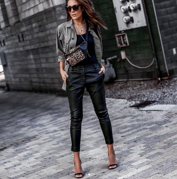 техникой кожаные штаны модные луки фото что сути