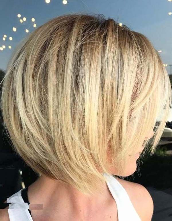 popular short stacked bob