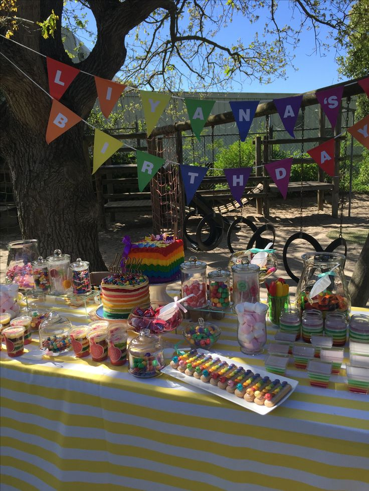 Rainbow bunting to match the rainbow candy