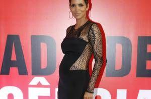 Giovanna Ewbank encontra Juliana Knust, grávida de três meses, em evento no Rio