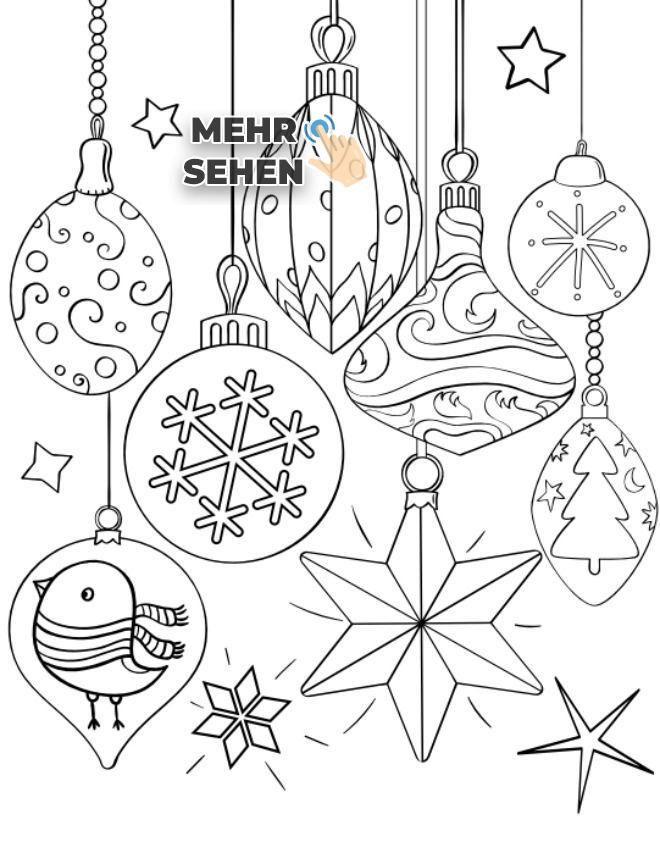 ausmalbilder weihnachten christbaumkugel  dorothy meyer