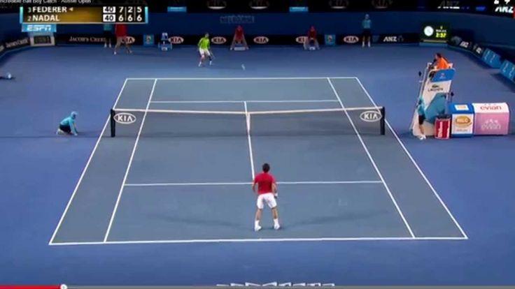 【観客も「ウォォォーーー」】全豪オープンテニス、ナダル VS フェデラーという超大御所対決にて観客も興奮のまさかのスーパープレイ発生!