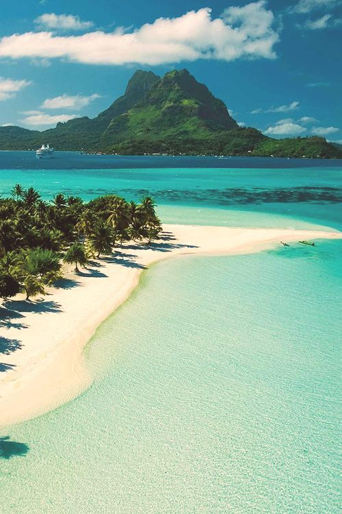 Tahiti. The color of the sea is gorgeous!