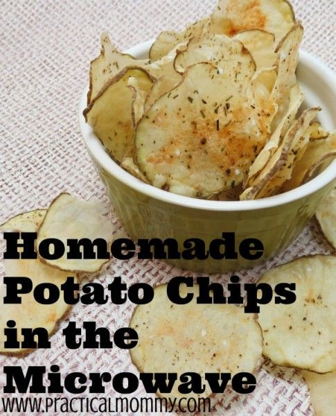 These simple and tasty homemade potato chips are ideal for a quick healthier snack!  Microwave potato chips make it easy to give everyone a unique flavor in just a few minutes for much cheaper than store bought chips!