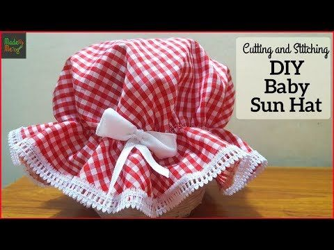 4edf6e9db99 DIY baby Sun Hat Cutting and Stitching in Hindi Urdu - YouTube ...