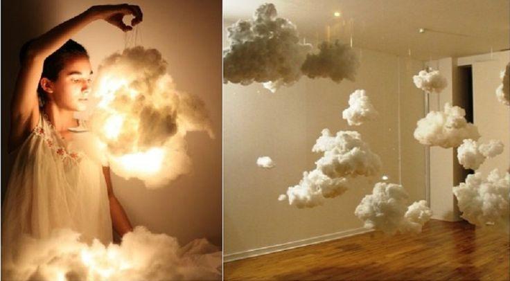comment fabriquer un nuage lumineux id es bricolages pinterest nuage lampes diy et lampes. Black Bedroom Furniture Sets. Home Design Ideas