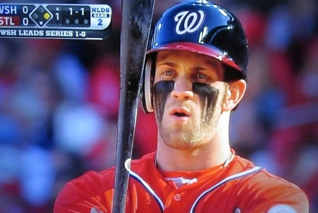 Bryce Harper's Ultimate Warrior look is back (TBS via @NatsEnquirer)