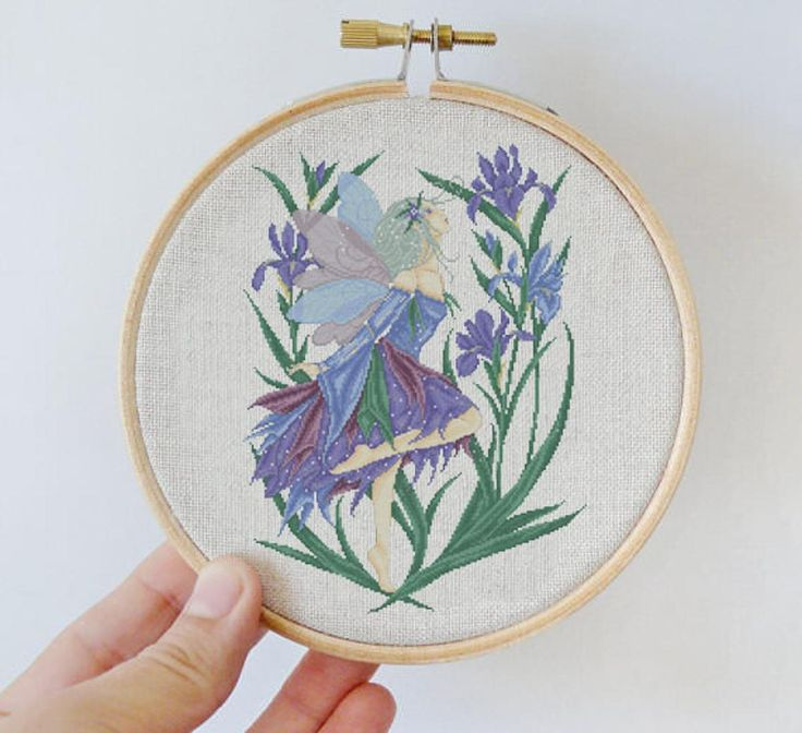 Fairy of Iris Cross Stitch Pattern by Xstitch | Craftsy