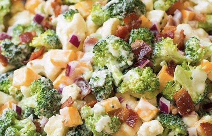 Recette: Salade brocoli et chou-fleur incroyable