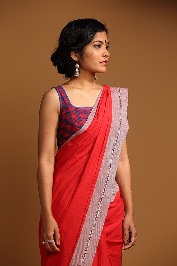 LOVE THIS! !! @cathyamalia cotton saree