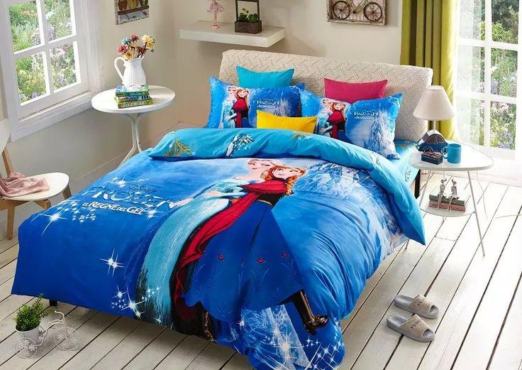 Dark Blue Cheap Frozen Bed Sets Frozen Comforter Set