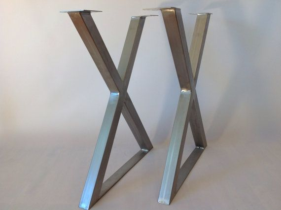 SET XFrame Table Legs 28 STAINLESS STEEL Table Legs by Balasagun, $280.00