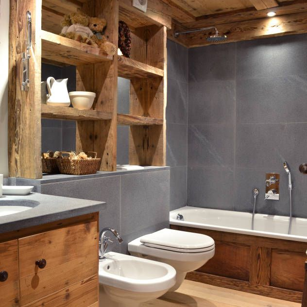 Oltre 25 fantastiche idee su idee per il bagno su pinterest arredamento da bagno grigio bagni - Bagno rustico foto ...
