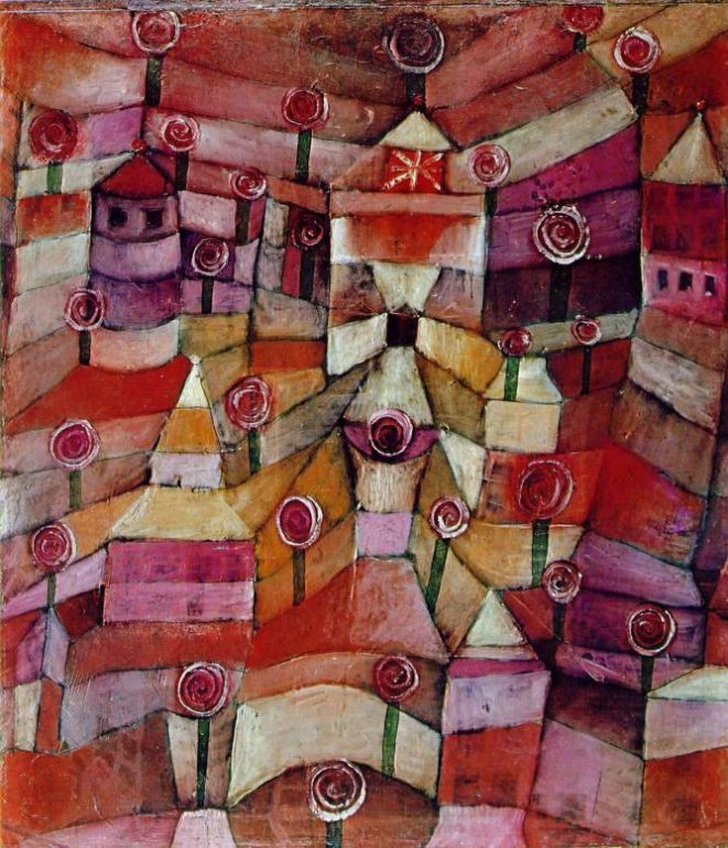 """Paul Klee  'Rose Garden'   1920  Oil on cardboard  19 1/4 x 16 3/4"""""""