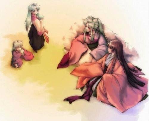 Inu no Taisho Family (Inuyasha, Sesshomaru, Inu no Taisho and Inuyasha's mom)