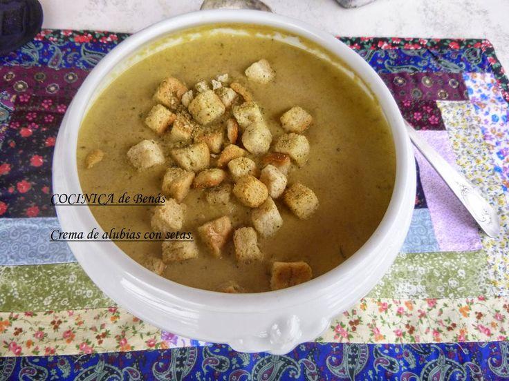 COCINICA de Benas: Crema de alubias con boletus edulis (Ceps)