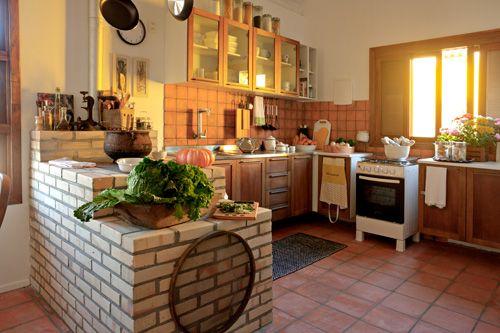 Querido Refúgio, decoração e bem viver: Decoração com Madeira... Cozinha rústica