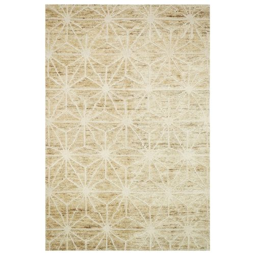 The hand-knotted Loloi Sahara rug recalls worldly influence for modern style. Fresh and spirited, the ivory floor covering's Moroccan-inspired star motifs present eclectic sophistication. Wool/jute; Rug pad recommended; Treat stains with mild soap and water