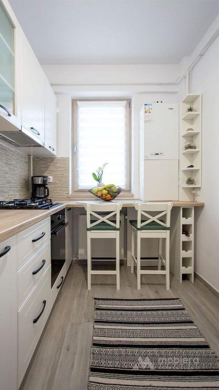 48 bellissime idee di design per cucine piccole   Idee per ...