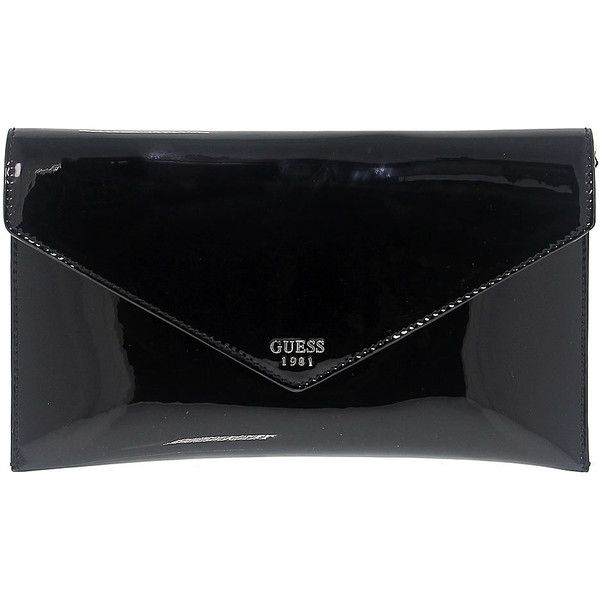 Guess Clutch bags (330 PEN) ❤ liked on Polyvore featuring bags, handbags, clutches, 100 leather handbags, genuine leather handbags, real leather handbags, guess handbags and leather clutches