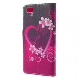 Huawei P8 Lite sydän puhelinlompakko. #sydän #huaweip8lite