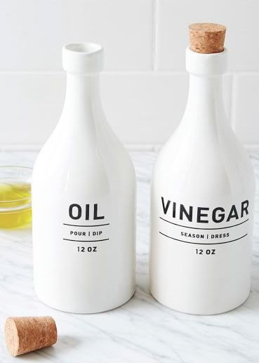 simple oil and vinegar bottles