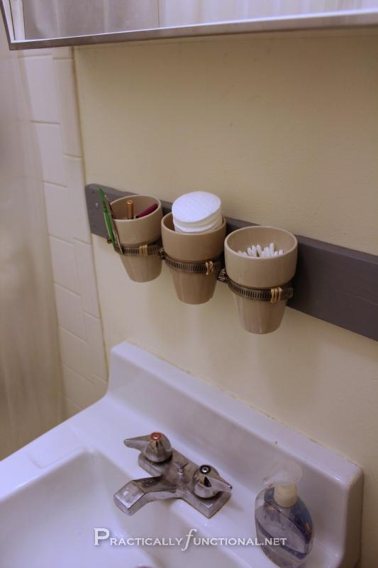 Diy bathroom storage crafts pinterest diy wall for Bathroom jar ideas