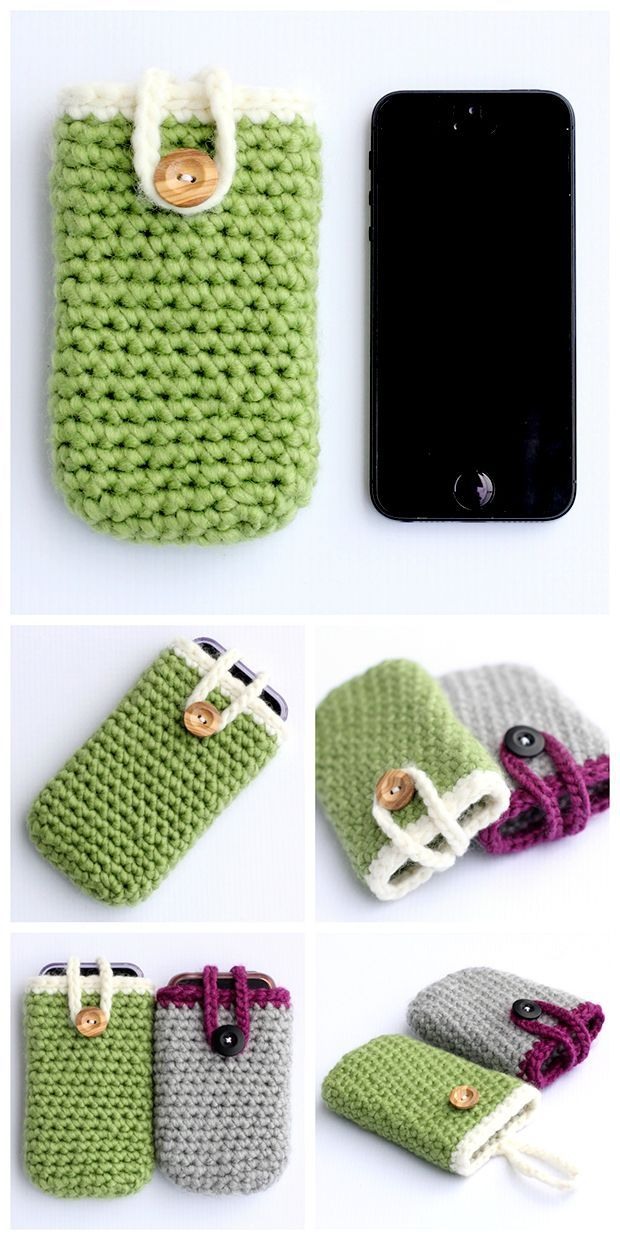 Crochet iPhone Case - Quick and Easy Pattern - Dabbles & Babbles