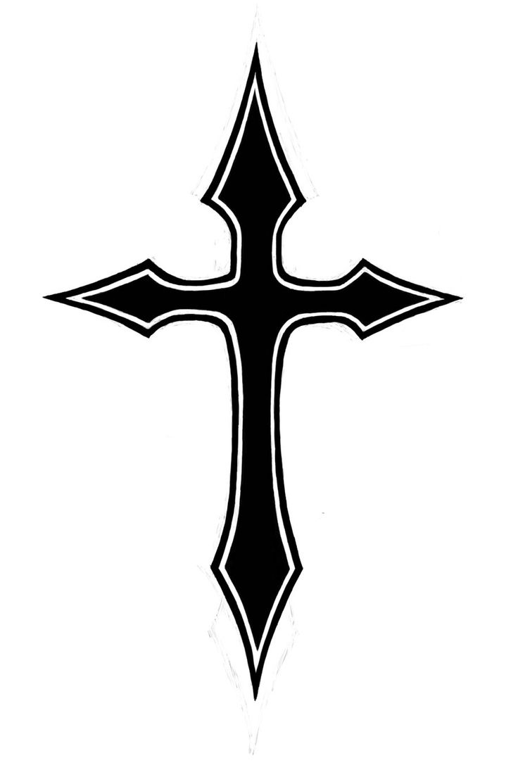 Sharp Cross Tattoo Design: Pix For > Solid Black Cross Tattoo Designs