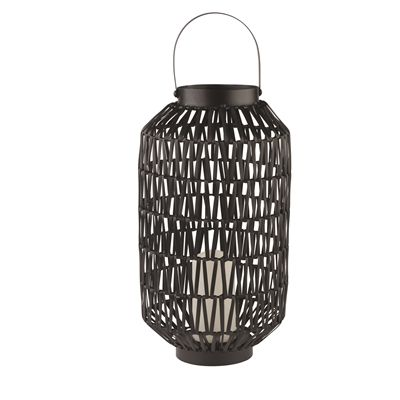 Holiday Living Large Black Resin Outdoor Lantern with LED Candle