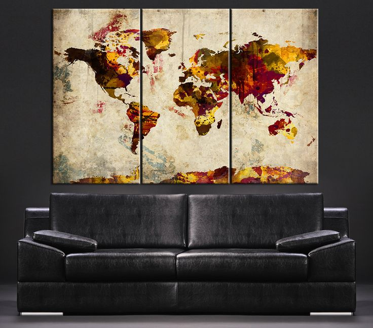 large abstract canvas wall art uk artwork map canada