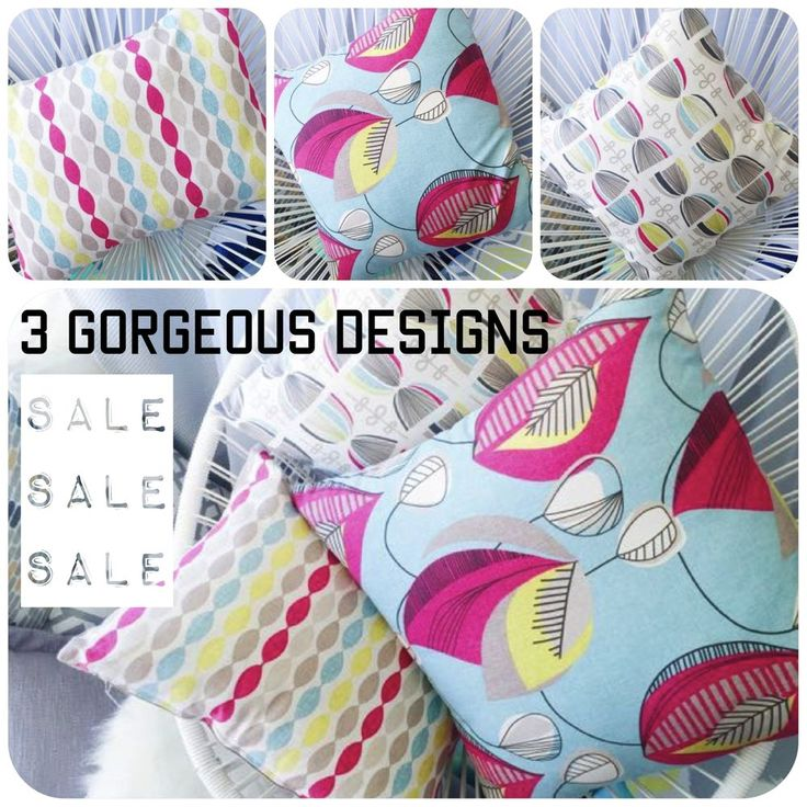 Gorgeous designer fabric custom made cushion covers 3 Fresh designs SALE price