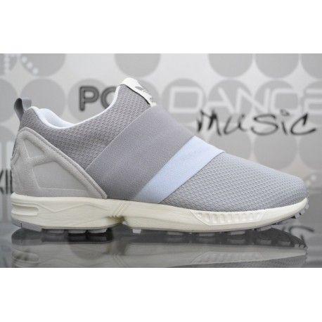 Scarpe Adidas ZX Flux Slip On grigie da uomo, sneaker con fascia elasticizzata al posto dei lacci e fodera in mesh traspirante. Spedizioni in 24/48h.