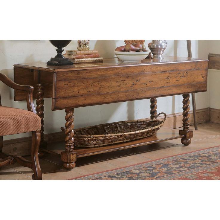 #Hooker Furniture Decorator Jacobean Twist Console Table