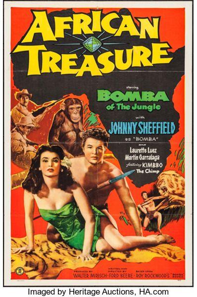 "Movie Posters:Adventure, African Treasure (Monogram, 1952). One Sheet (27"" X 41"").Adventure.. ..."