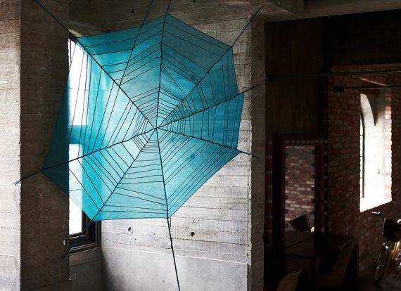 Spider web pattern Sheer shade window and space by designmeem, $980.00