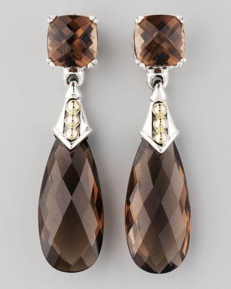 LAGOS Smoky Topaz Earrings.               V