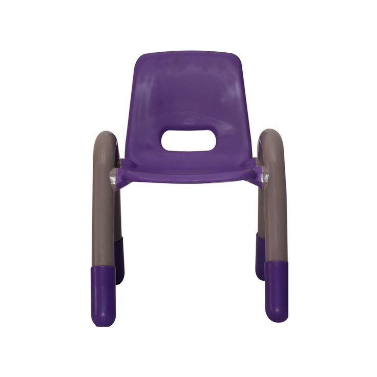 VJ INTERIO BRIGHT SQUARE KIDS PLASTIC CHAIR PURPLE Very Durable And Sturdy  Chair Made With