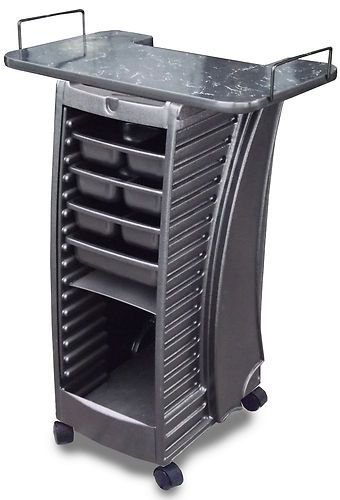 BEAUTY SALON SPA EQUIPMENT TROLLEY ROLLABOUT  V1 WITH LAMINATED TOP