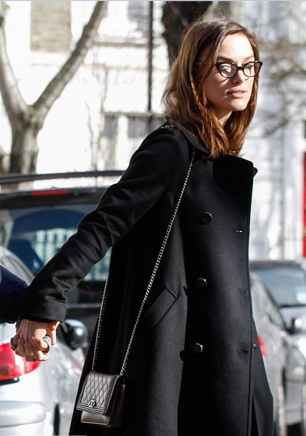 Unintentional Art in Celebrity Candids - Keira Knightley out in London