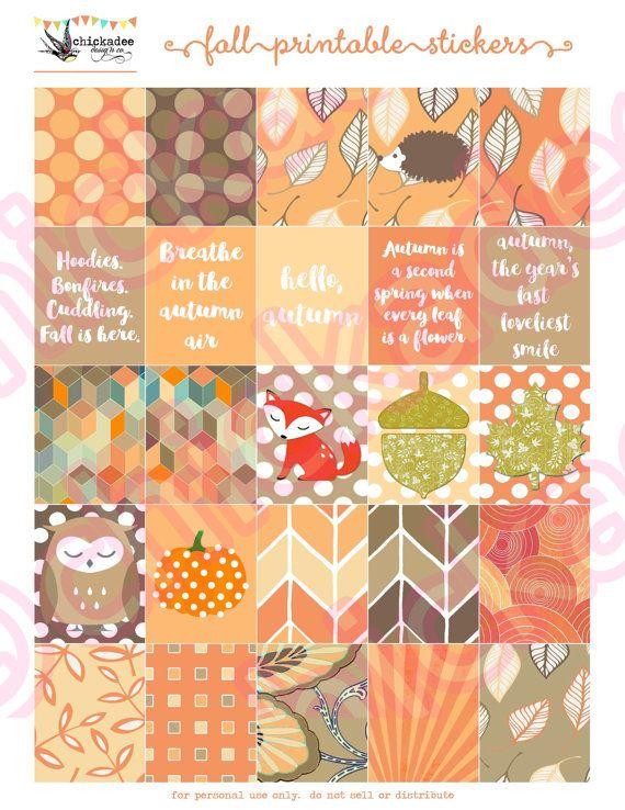 (FREE bonus!) EDITABLE October Printable Planner Stickers by Chickadee Design…