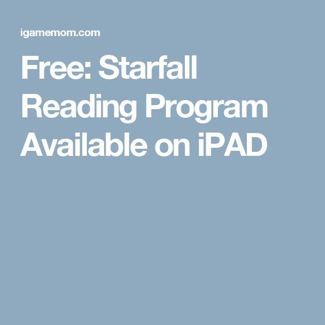 Free: Starfall Reading Program Available on iPAD