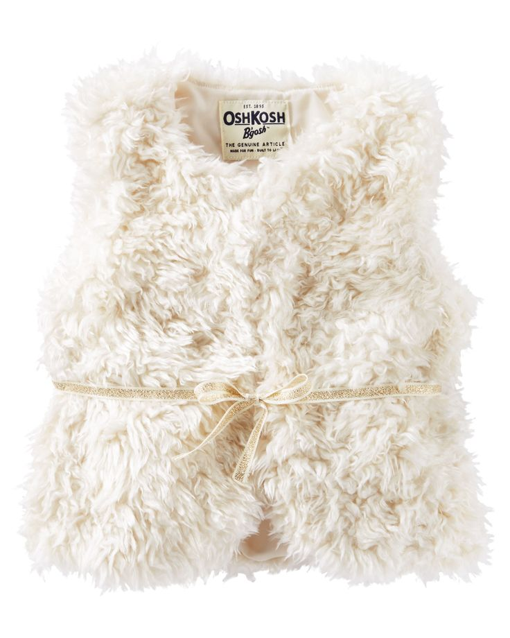 Baby Girl Faux Fur Vest | OshKosh.com