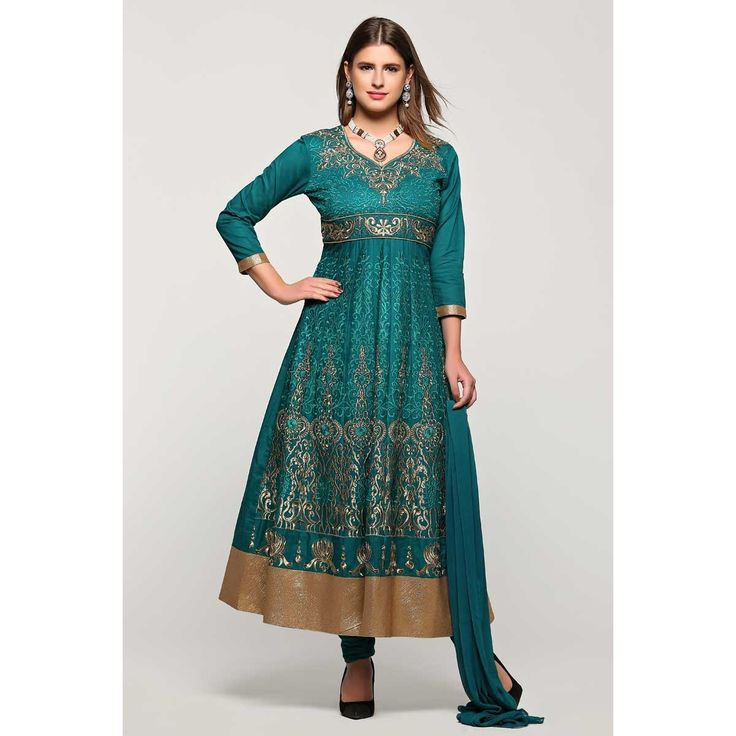 Aubaines, Anarkali churidar coton taille plus prom costumes, costume brodé de vert bouteille Laïla dans la boutique. Andaaz mode apporte la dernière collection de vêtements ethniques de créateurs en FR   http://www.andaazfashion.fr/salwar-kameez/anarkali-suits/bottle-green-cotton-anarkali-churidar-suit-with-dupatta-1782.html