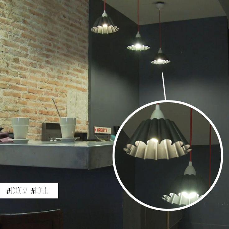 Des moules g teaux r invent s en lampes une id e - Idee cuisine originale ...