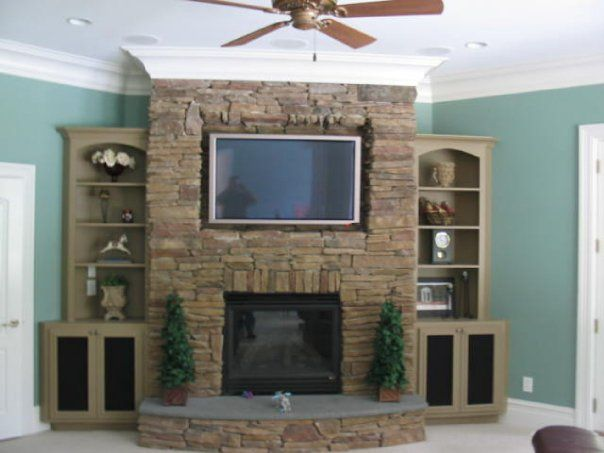 Corner Fireplace Design With Component Ideas Client
