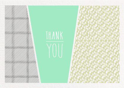 Thank You | Mint & Mail | Moments Love Paper. Webshop voor alle momenten op papier. Wenskaarten | Trouwkaarten | Geboortekaartjes & Papierwaren.