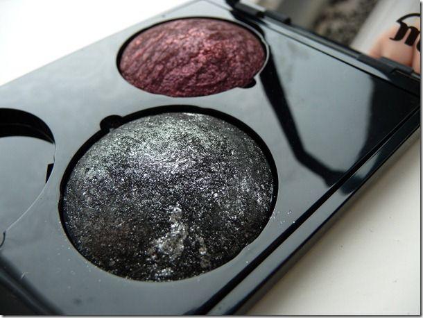 Make-up Studio Eyeshadow Lumière Red Sparkles & Eyeshadow Moondust Twinkling Black