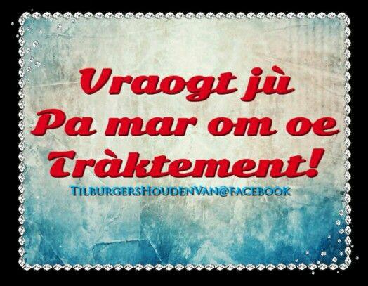 #Tilburgershoudenvan #Kwèèk #traktement #tilburgs #Tilburg #dialect #brabant #uitdrukking #opzntilburgs #gezegde